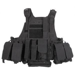 MFH Ranger Taktische Weste MOLLE-Befestigungssystem Schwarz