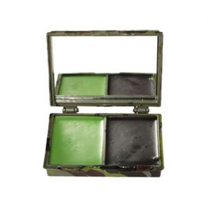 Mil-Tec Tarnschminke 2 Farben Etui mit Spiegel Woodland