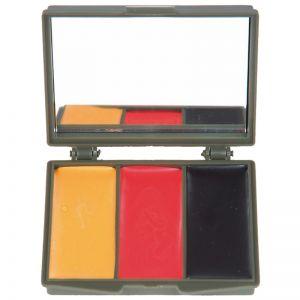 Mil-Tec Tarnschminke 3 Farben Etui mit Spiegel Wood BW Armee