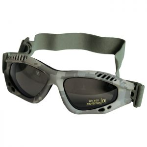 Mil-Tec Commando Air Pro Schutzbrille Gläser Rauchgrau Gestell ACU Digital