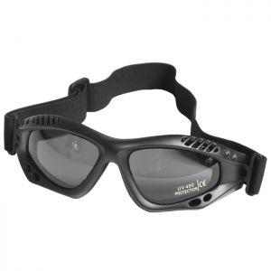 Mil-Tec Commando Air Pro Schutzbrille Gläser Rauchgrau Gestell Schwarz