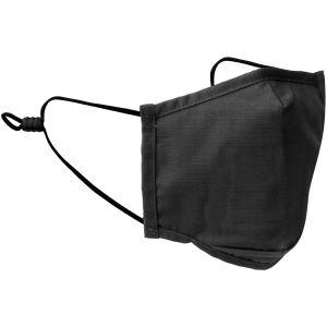 Mil-Tec Mund-/Nasenschutz, quadratisch Ripstop - Schwarz