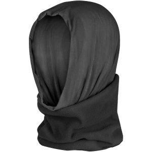 Mil-Tec Multifunktionstuch/Kopfbedeckung aus Fleece Schwarz