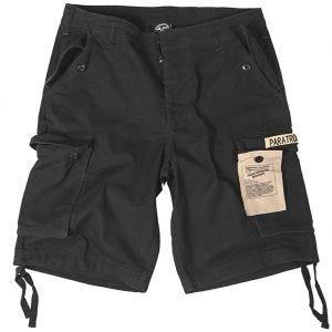 Mil-Tec Paratrooper Cargo-Shorts Prewashed Schwarz