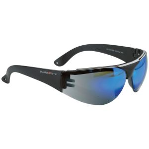 Swiss Eye Outbreak Protector Sportbrille Gestell in Schwarz / verspiegelte Gläser in Blau