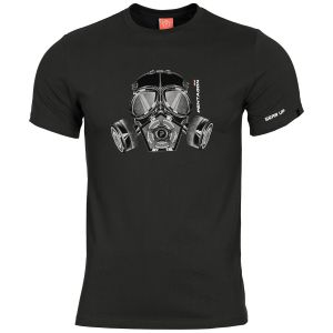 Pentagon Ageron Gas Mask T-Shirt Schwarz