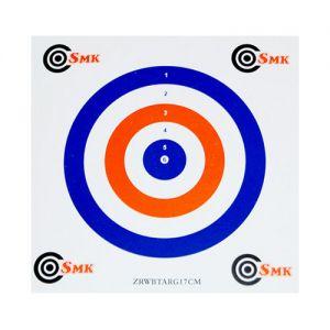 SMK 17 cm Papp-Zielscheiben Rot Weiß Blau (100 Stück)