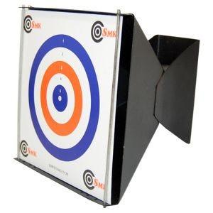 SMK Trumpet Trichterförmiger Zielscheibenhalter mit Kugelfang 17 x 17 cm
