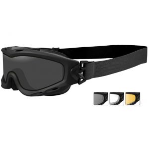 Wiley X Spear Schutzbrille - Monoglas in Smoke Grey + Transparent + Light Rust / Gestell in Mattschwarz