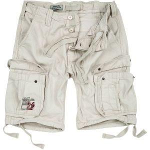 Surplus Airborne Shorts im Vintage-Stil Off-White