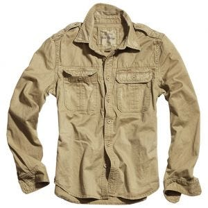 Surplus Raw Langarmshirt im Vintage-Stil Beige
