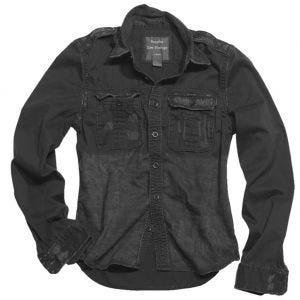 Surplus Raw Langarmshirt im Vintage-Stil Schwarz