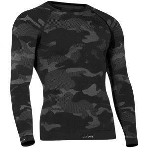 Tervel Optiline Taktisches Langarm-Shirt Schwarz/Grau