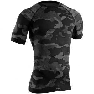 Tervel Optiline Taktisches Kurzarm-Shirt Schwarz/Grau