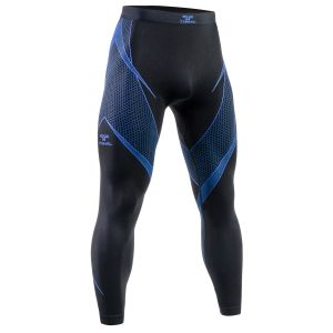 Tervel Optiline Lange Unterhose Schwarz / Blau