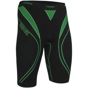 Tervel Optiline Sport-Shorts Schwarz/Grün