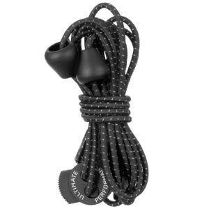 Ultimate Performance Reflektierende elastische Schnürsenkel Schwarz