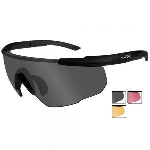 Wiley X Saber Advanced Schutzbrille - Gläser in Smoke Grey + Light Rust + Vermillion / Gestell in Mattschwarz