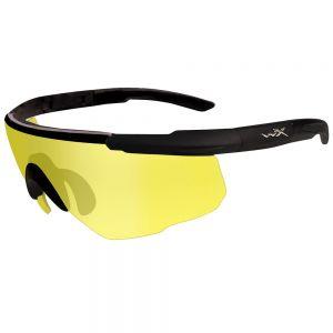 Wiley X Saber Advanced Schutzbrille - Glas in Pale Yellow / Gestell in Mattschwarz