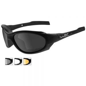 Wiley X XL-1 Advanced Schutzbrille - Gläser in Smoke Grey + Transparent + Light Rust / Gestell in Mattschwarz