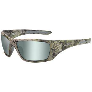 Wiley X WX Nash Brille - Polarisierte Gläser in Green Platinum Flash / Gestell in Kryptek Altitude