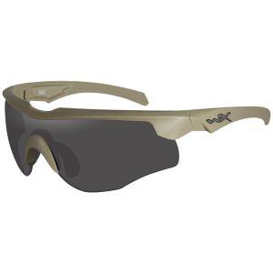 Wiley X WX Rogue COMM Brille - Gläser in Smoke Grey + Klar + Light Rust / Gestell in Tan