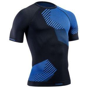 Tervel Optiline Kurzarm-Shirt Schwarz / Blau
