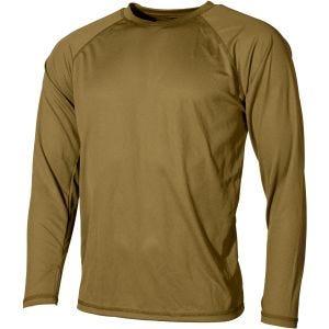 MFH US Level I Gen III Langärmliges Unterhemd Coyote Tan