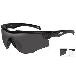 Wiley X WX Rogue Schutzbrille - Glas in Smoke Grey + Transparent / Gestell in Mattschwarz