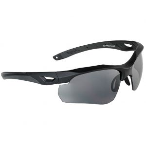 Swiss Eye Skyray Sonnenbrille mit Gläsern in Smoke + Klar / Gummigestell in Schwarz
