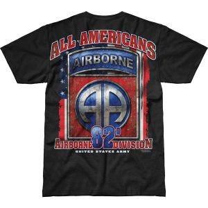 7.62 Design Army 82nd Airborne All Americans Battlespace T-Shirt Schwarz