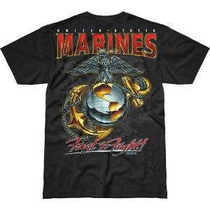 7.62 Design USMC Eagle, Globe & Anchor Battlespace T-Shirt Schwarz