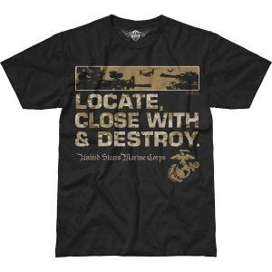 7.62 Design USMC Locate Battlespace T-Shirt Schwarz