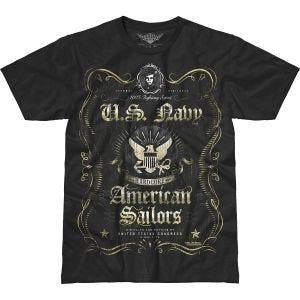 7.62 Design USN Fighting Spirit Battlespace T-Shirt Schwarz