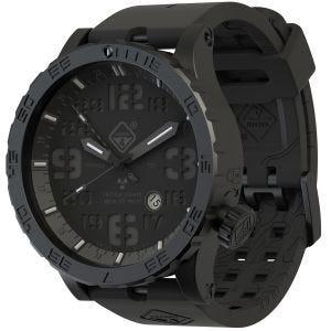 Hazard 4 Heavy Water Diver Titanium Blackout GMT-Armbanduhr mit Tritium-Lichtquelle Schwarz/Blau/Rot