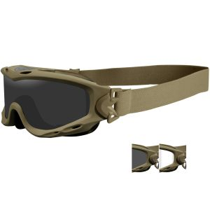 Wiley X Spear Schutzbrille - Gläser in Smoke Grey + Transparent / Gestell in Tan