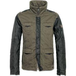 Brandit Ray Vintage Jacke Olivgrün / Schwarz
