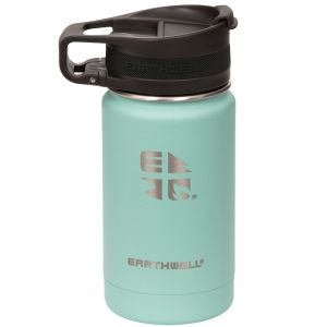 Earthwell Roaster Vakuum-Trinkflasche mit Befestigungsvorrichtung 355 ml Aqua Blue