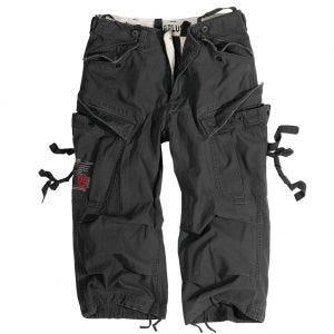 Surplus Engineer Shorts im Vintage-Stil mit 3/4-Bein Schwarz