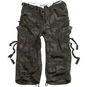 Surplus Engineer Shorts im Vintage-Stil mit 3/4-Bein Black Camo