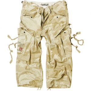 Surplus Engineer Shorts im Vintage-Stil mit 3/4-Bein Desert Storm