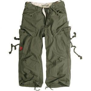 Surplus Engineer Shorts im Vintage-Stil mit 3/4-Bein Oliv