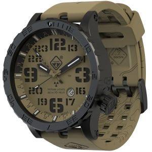 Hazard 4 Heavy Water Diver Titanium GMT-Armbanduhr mit Tritium-Lichtquelle Arid Brown/Grün/Gelb