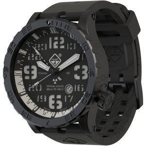 Hazard 4 Heavy Water Diver Titanium Nightwatch GMT-Armbanduhr mit Tritium-Lichtquelle Weiß/Blau/Rot