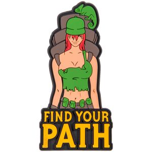 "Helikon Patch mit Spruch ""Find Your Path"" Olive Green"