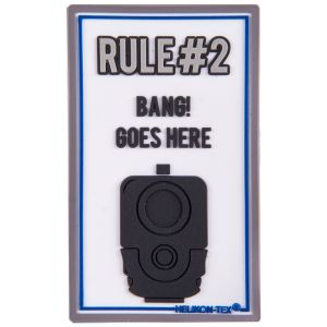 """Helikon Patch mit Schriftzug """"Rule#2"""" Weiß"""