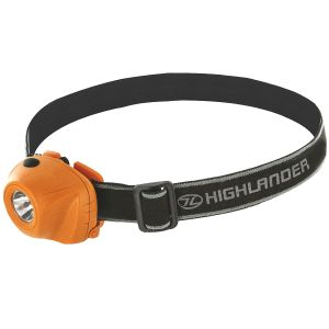 Highlander Beam 1W LED-Stirnlampe Orange/Schwarz