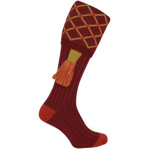 Jack Pyke Diamond Jagdsocken Burgundy