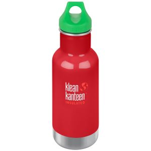 Kid Kanteen Classic Insulated 355 ml Isolierte Trinkflasche mit Loop Cap Mineral Red