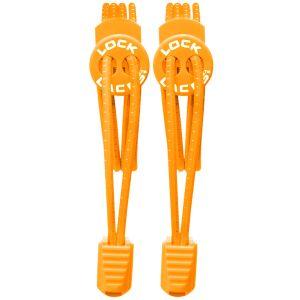 Lock Laces Elastische Schnürsenkel mit Kordelstopper Orange